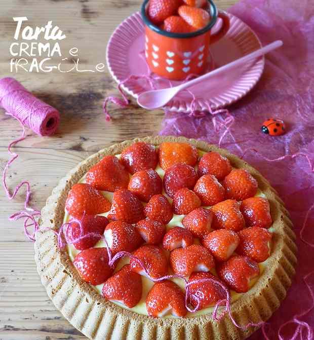 Ricetta: Torta crema e fragole