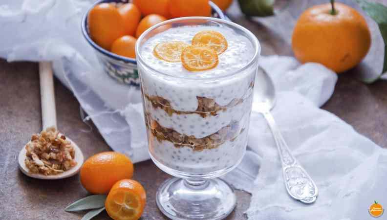 Ricetta: Budino con semi di chia e frutta secca, una carica di omega 3 al sapore di vaniglia