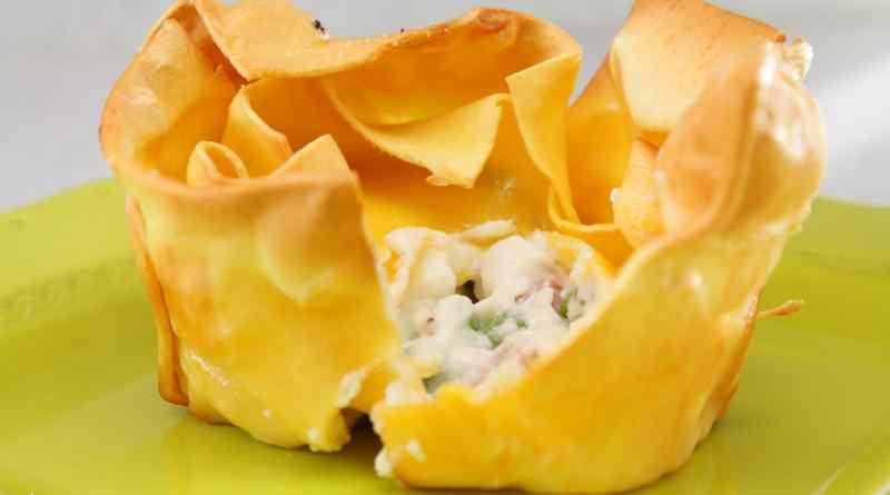 Ricetta: Cestini di lasagne ripieno cremoso