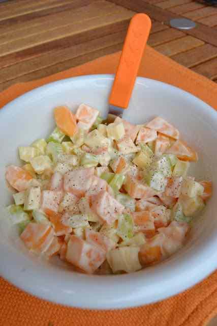 Melone, sedano e groviera