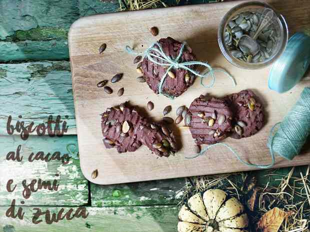 Biscotti al cacao e semi di zucca