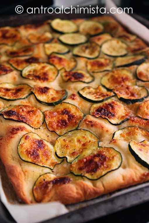 Focaccia alle Zucchine e Grana