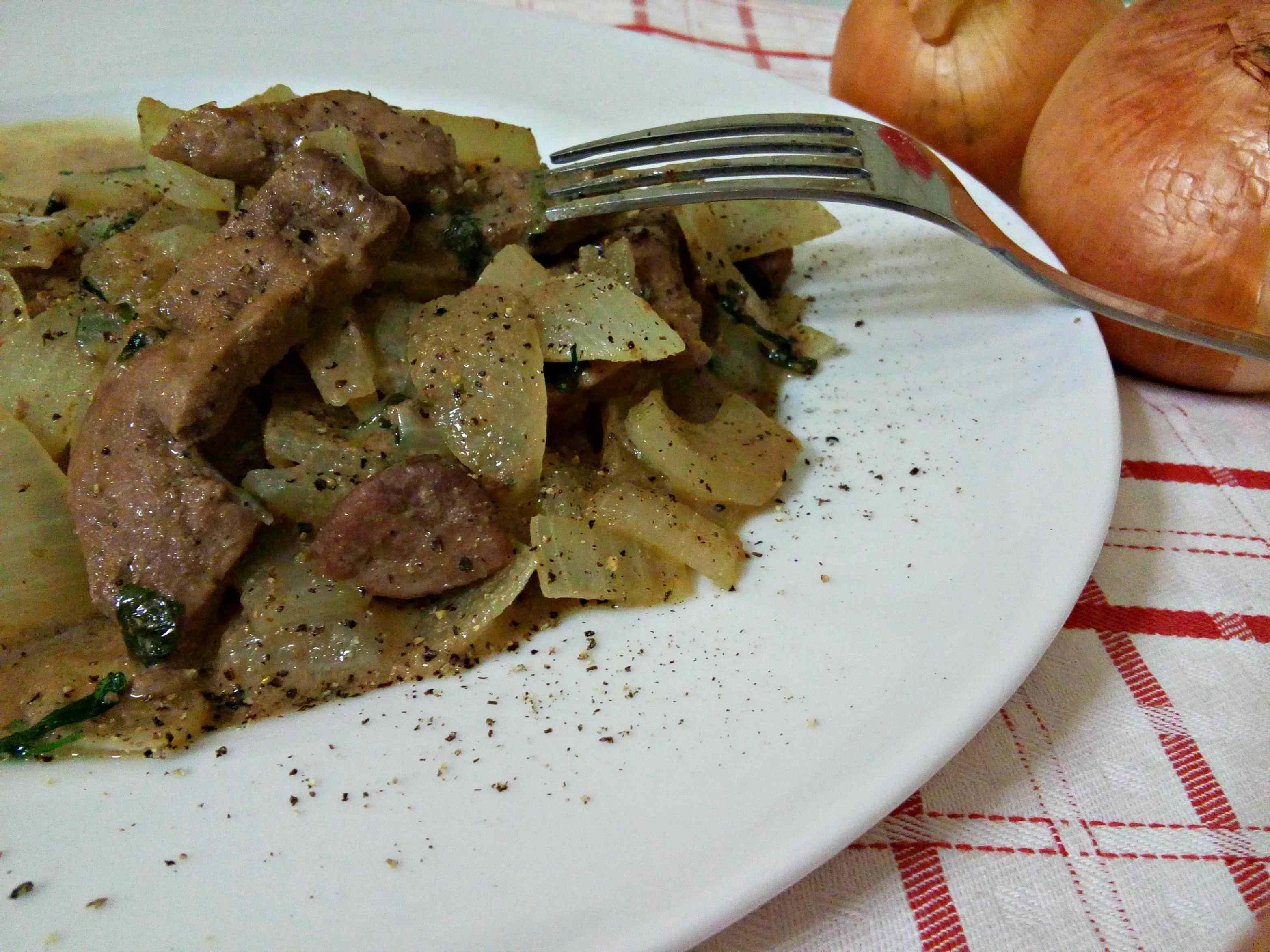 Ricetta: Fegato con le cipolle (alla veneziana)