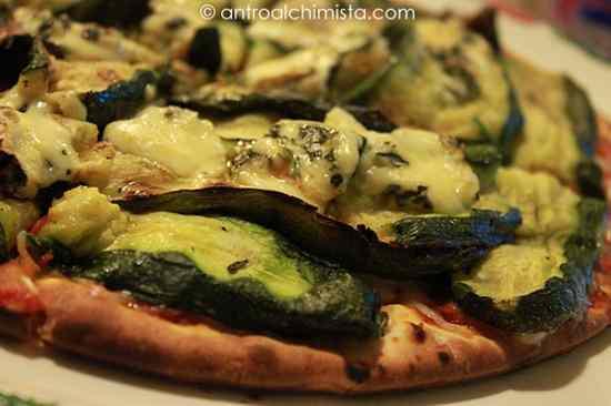 Pizza con Zucchine Grigliate e Roquefort