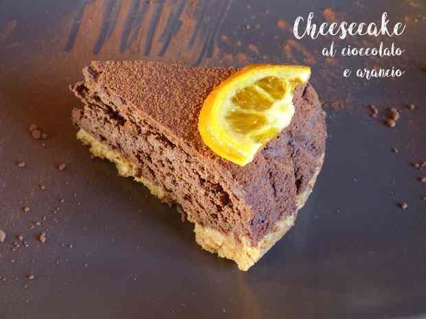 Cheesecake al cioccolato e arancio