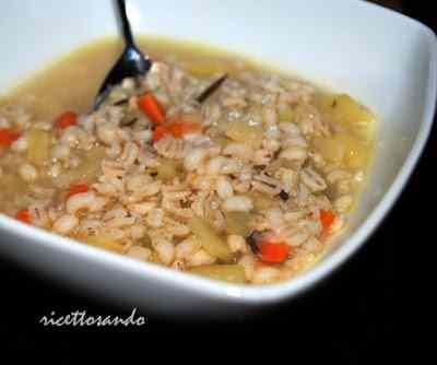 Ricetta: L\'orzo questo favoloso cereale .. ottima zuppa e una delizia di tortino!!!
