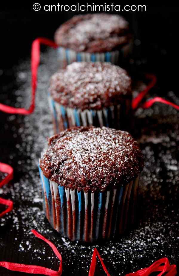Muffins con cachi e cacao