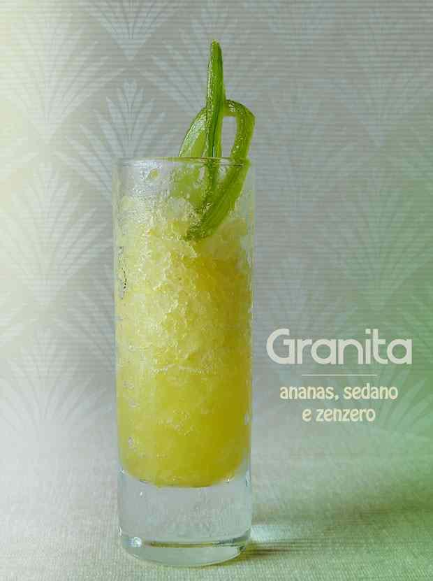 Granita ananas, sedano e zenzero