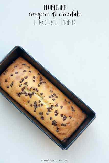 Plumcake con gocce di cioccolato e bio rice drink