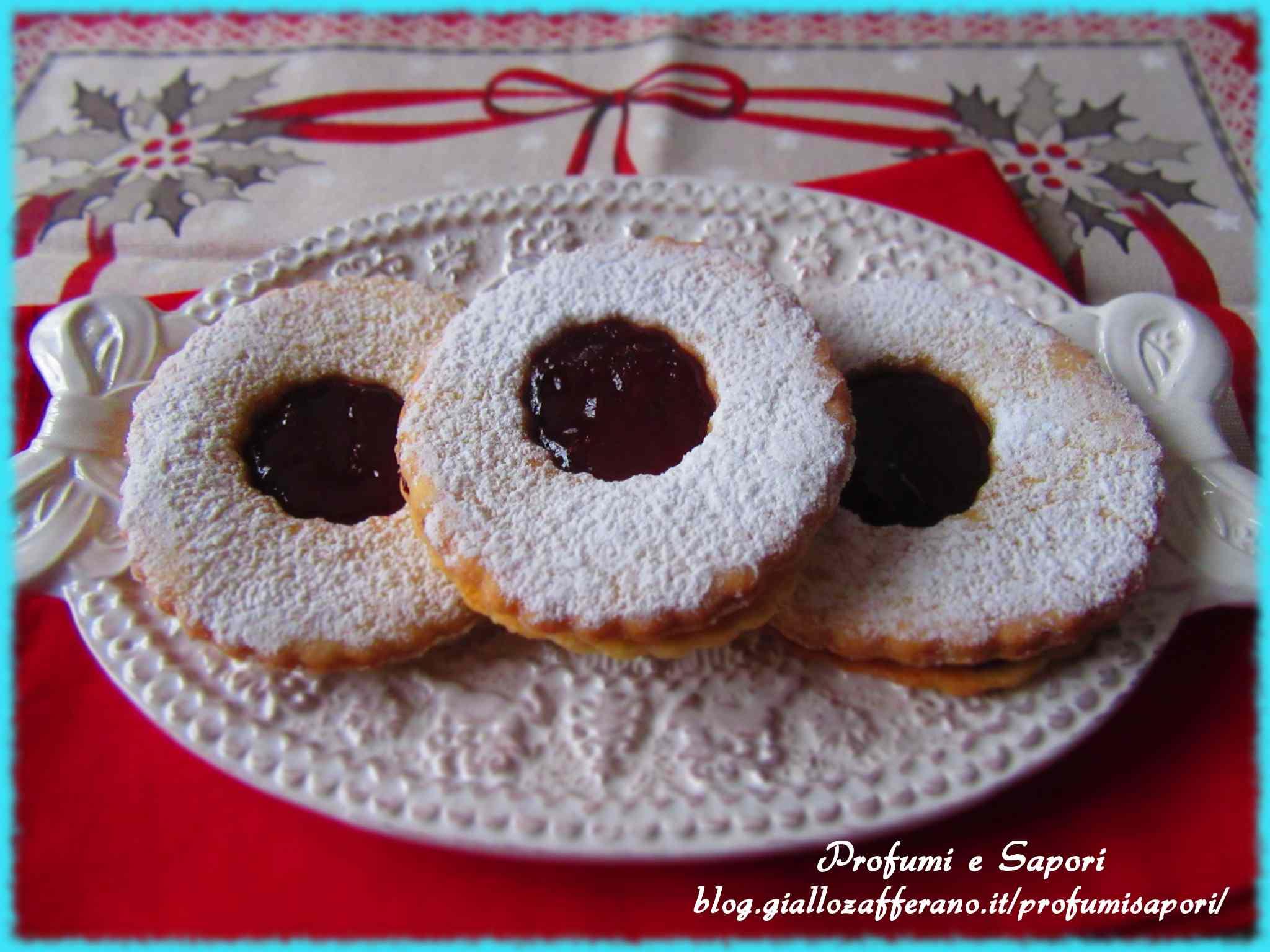 Biscotti occhio di bue alla marmellata