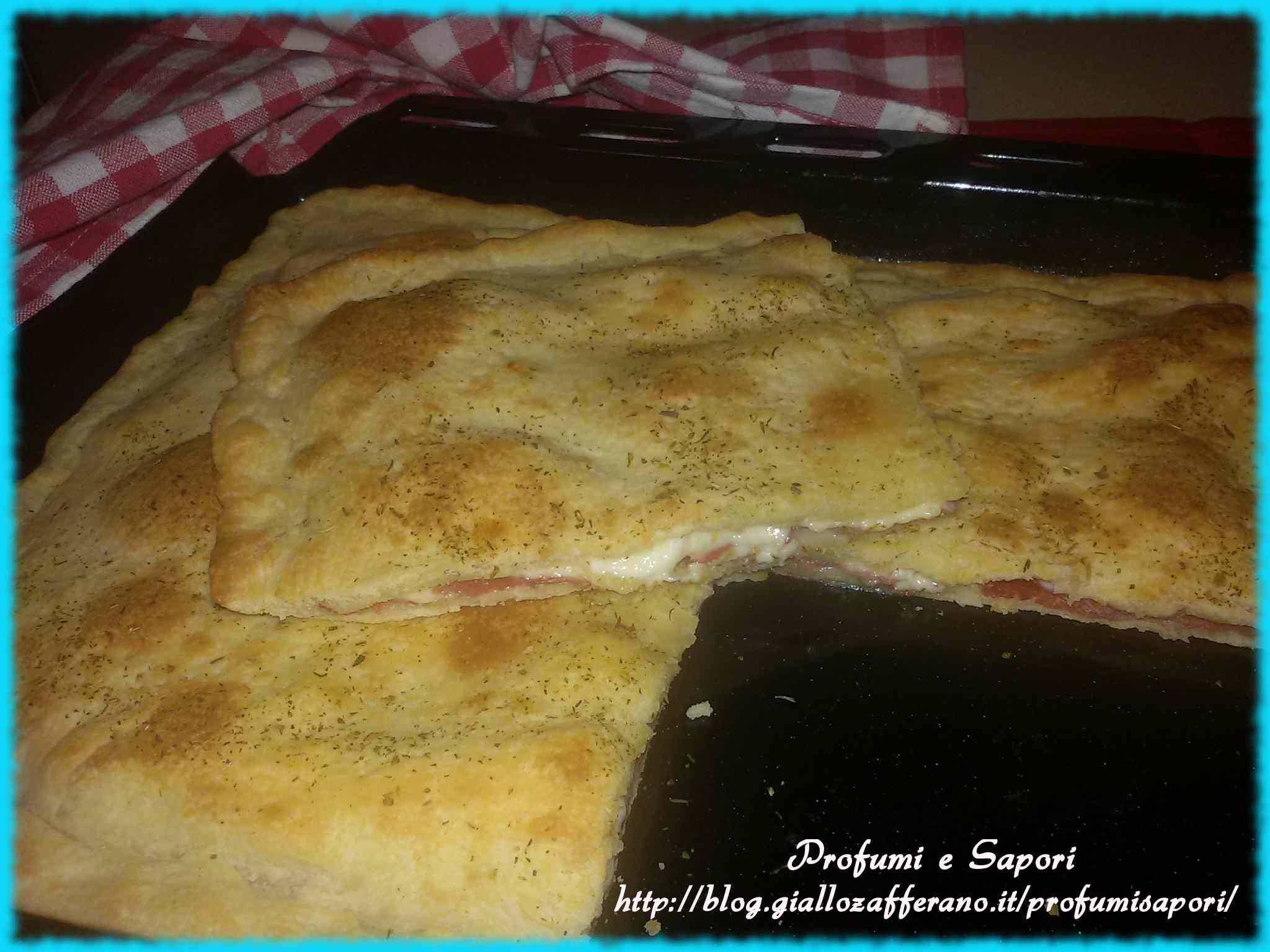 Focaccia veloce bresaola e fontina (senza lievito)