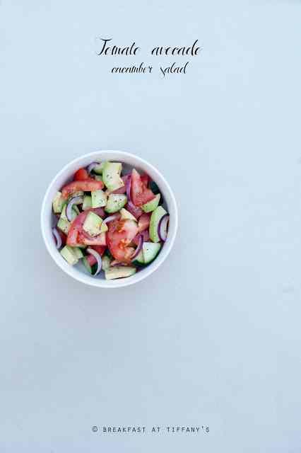 Ricetta: Insalata con pomodoro avocado cetriolo / tomato avocado cucumber salad