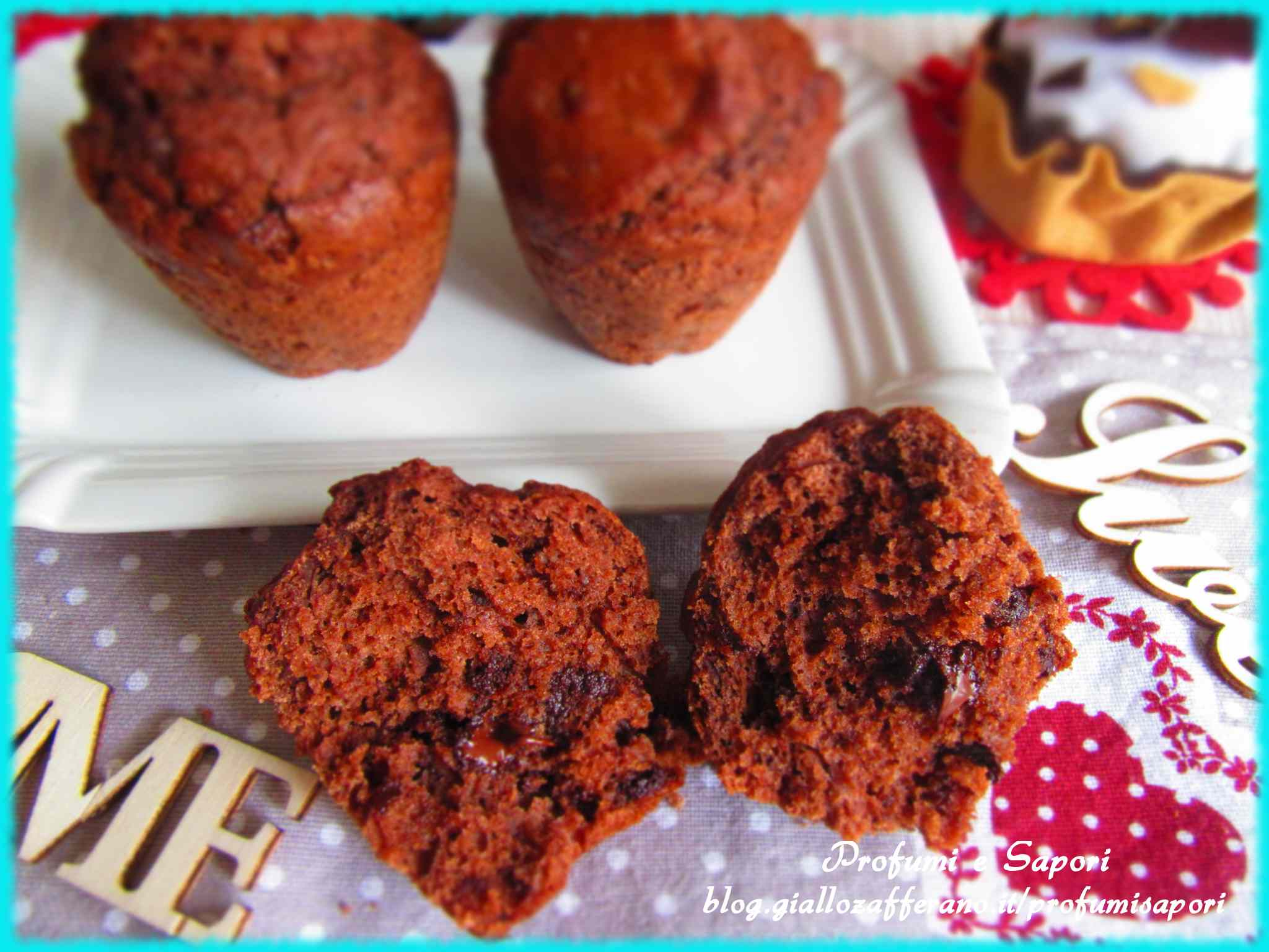 Muffin al cioccolato e yogurt (senza burro)