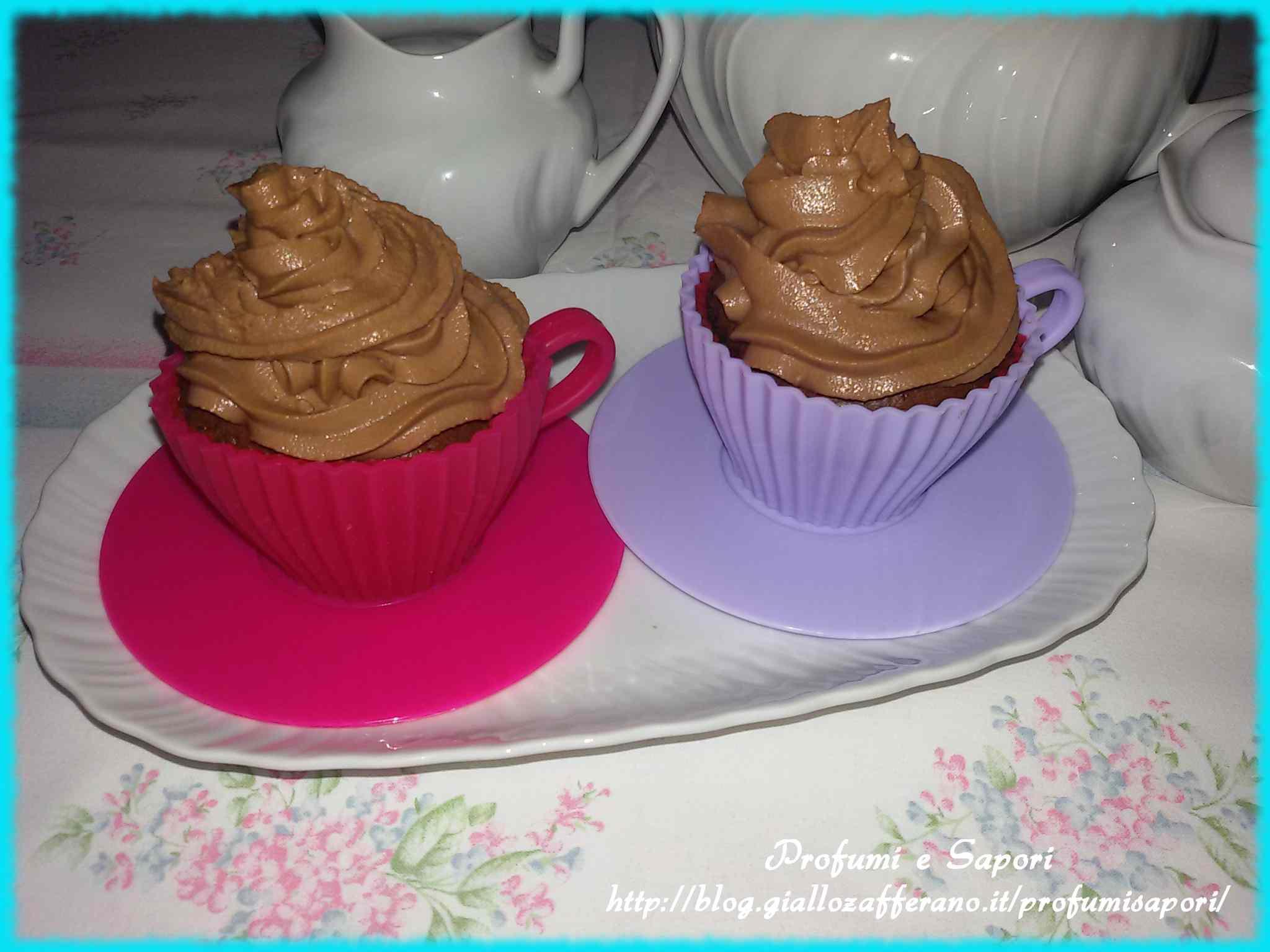 Cupcake al mascarpone e nutella