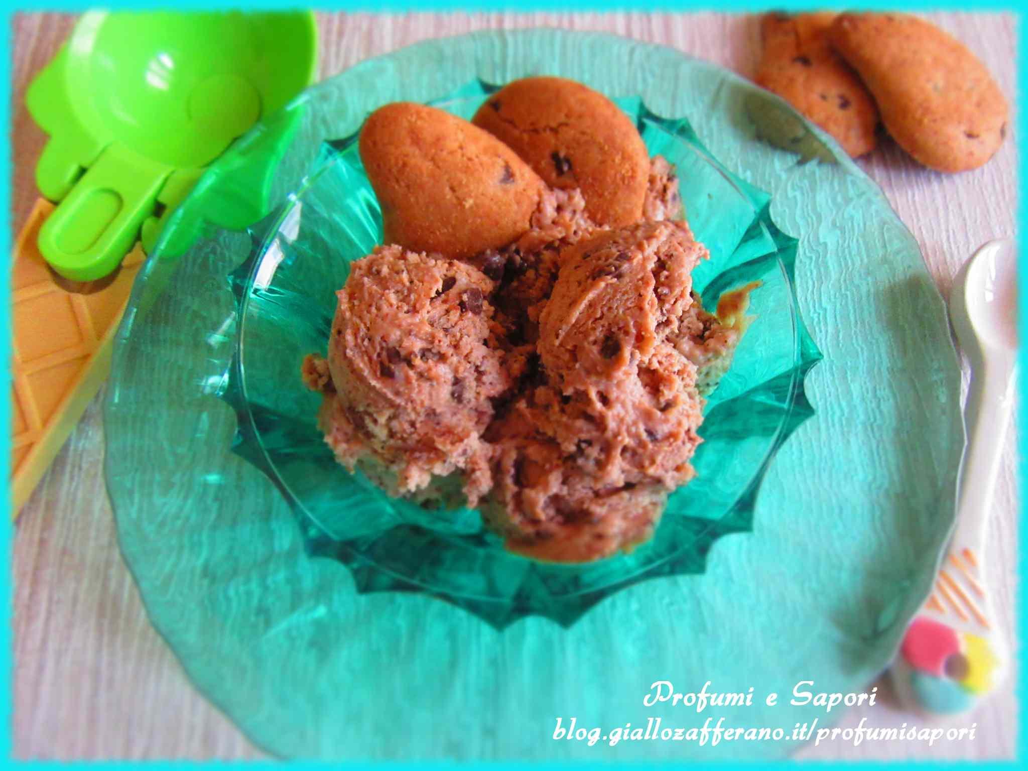 Gelato con le gocciole cremosissimo (senza gelatiera)