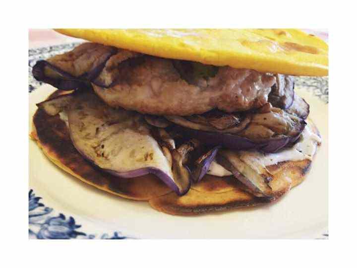 Ricetta: Maxi tigella di ceci e burger di tacchino