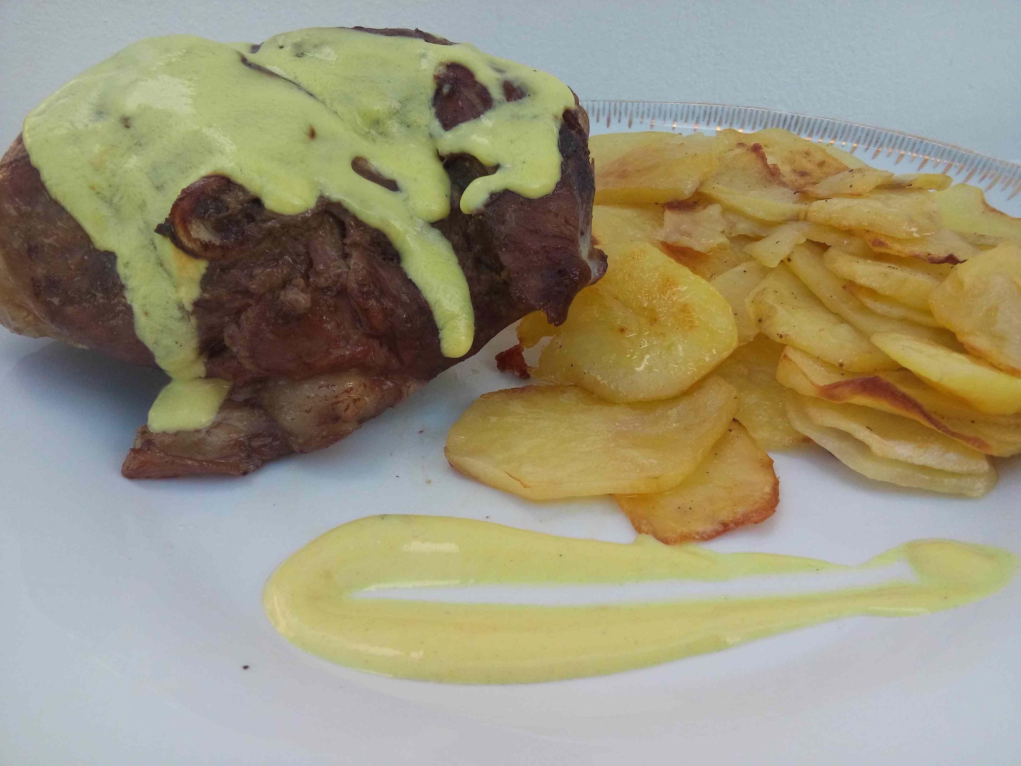 Ricetta: Agnello alla senape con patate