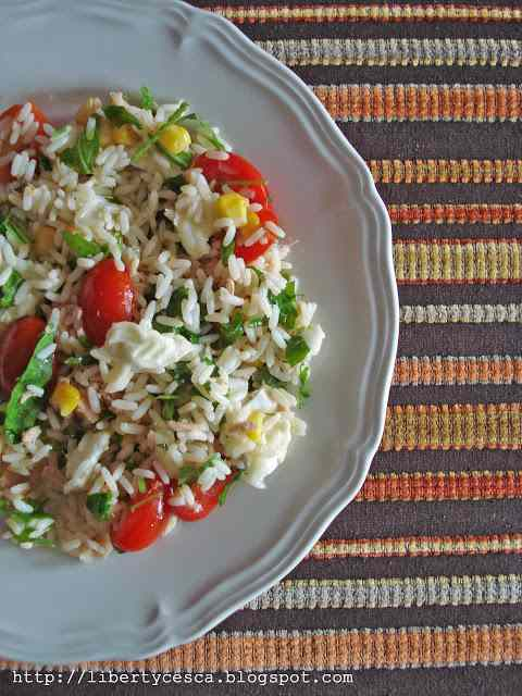 Ricetta: Light rice salad / insalata di riso leggera