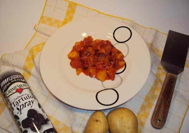 Patate in rosso al tartufo