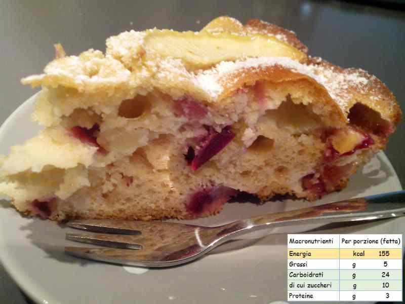 Ricetta: Torta leggera alla frutta