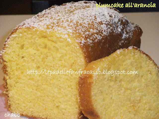 Plum cake con succo d\'arancia
