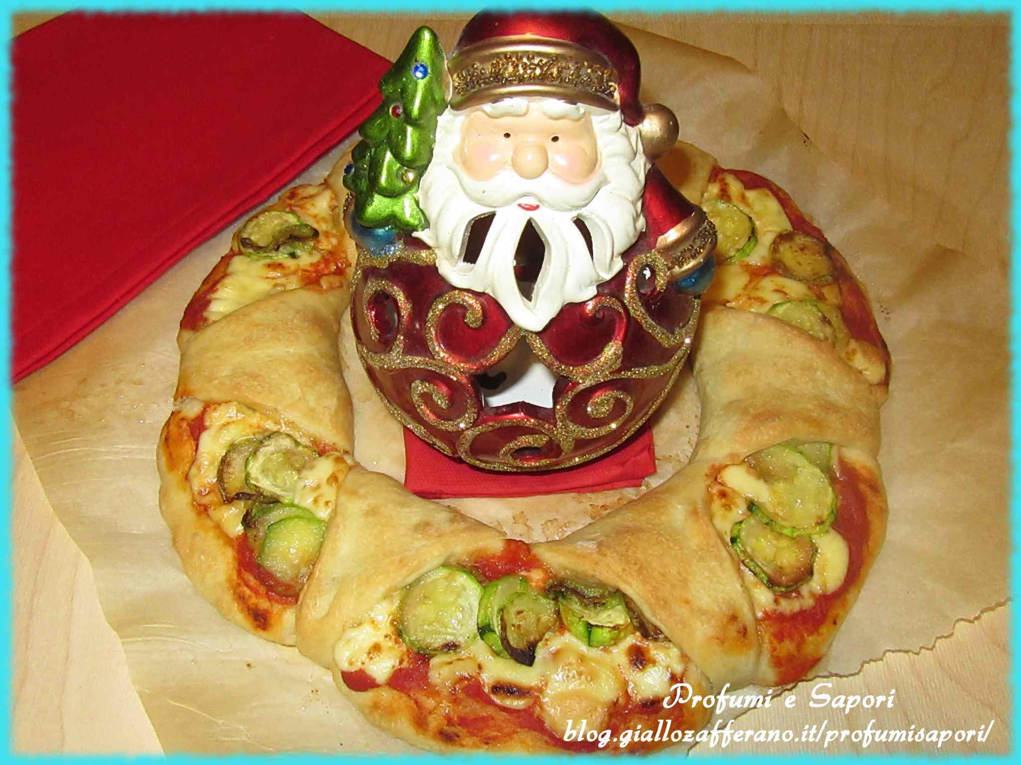 Ghirlanda di pizza alle zucchine