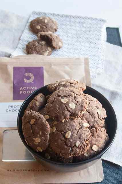 Ricetta: Biscotti proteici con fiocchi d\'avena e con preparato by bulkpowders