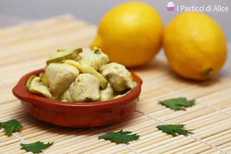 Bocconcini di tacchino zucchine e curry