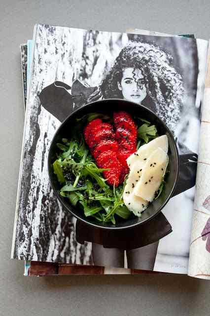Ricetta: Insalata di rucola e fragole / strawberries and rocket salad