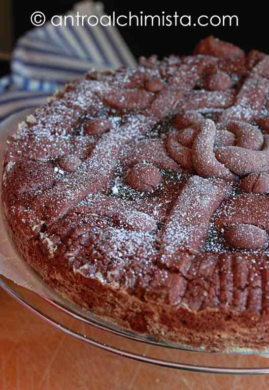 Crostata al Cacao con Marmellata di Albicocche