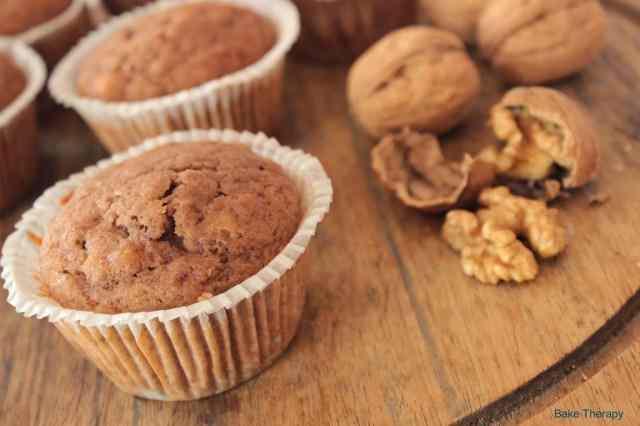 Muffin con banana e noci