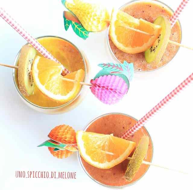 Estratto detox con radicchio tardivo, kiwi, arancia e zenzero