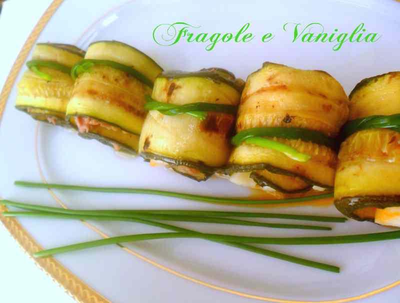 Ricetta: Involtini di zucchine grigliate